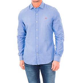 Camisa Napapijri® | Azul Claro e Branco