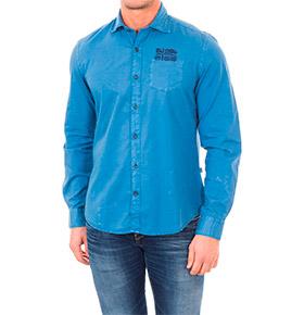Camisa Napapijri® Azul com Bandeira