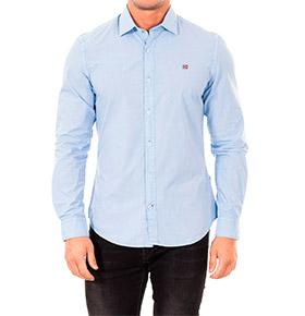 Camisa Napapijri® Basic | Azul Celeste