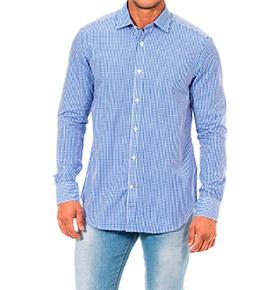 Camisa Napapijri® Quadrados | Azul e Branco