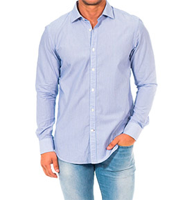 Camisa Napapijri® Branco com Riscas