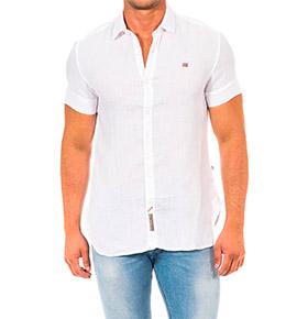 Camisa Napapijri® Branco com Manga Curta