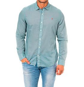 Camisa Napapijri® Azul com Manga Comprida