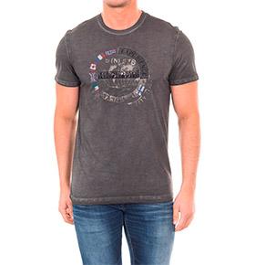 T-shirt Napapijri® Experience | Cinza Escuro
