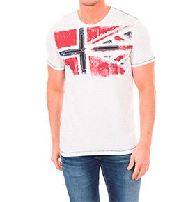 T-shirt Napapijri® com Bandeira | Branco
