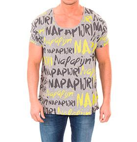 T-shirt Napapijri® Cinza Padrão