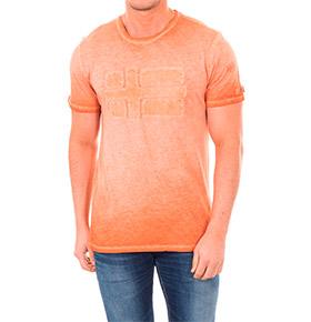 T-shirt Napapijri® com Gola Redonda Laranja