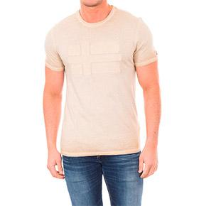 T-shirt Napapijri® com Gola Redonda Bege