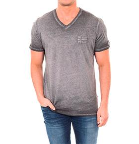 T-shirt Napapijri® Cinza Escuro