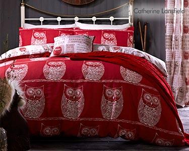 Jogo de Cama Catherine Lansfield® Wise Old Owl | Capa Edredão + 1 ou 2 Fronhas