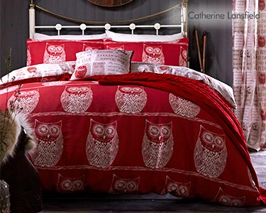 Jogo de Cama Catherine Lansfield® Wise Old Owl   Capa Edredão + 1 ou 2 Fronhas