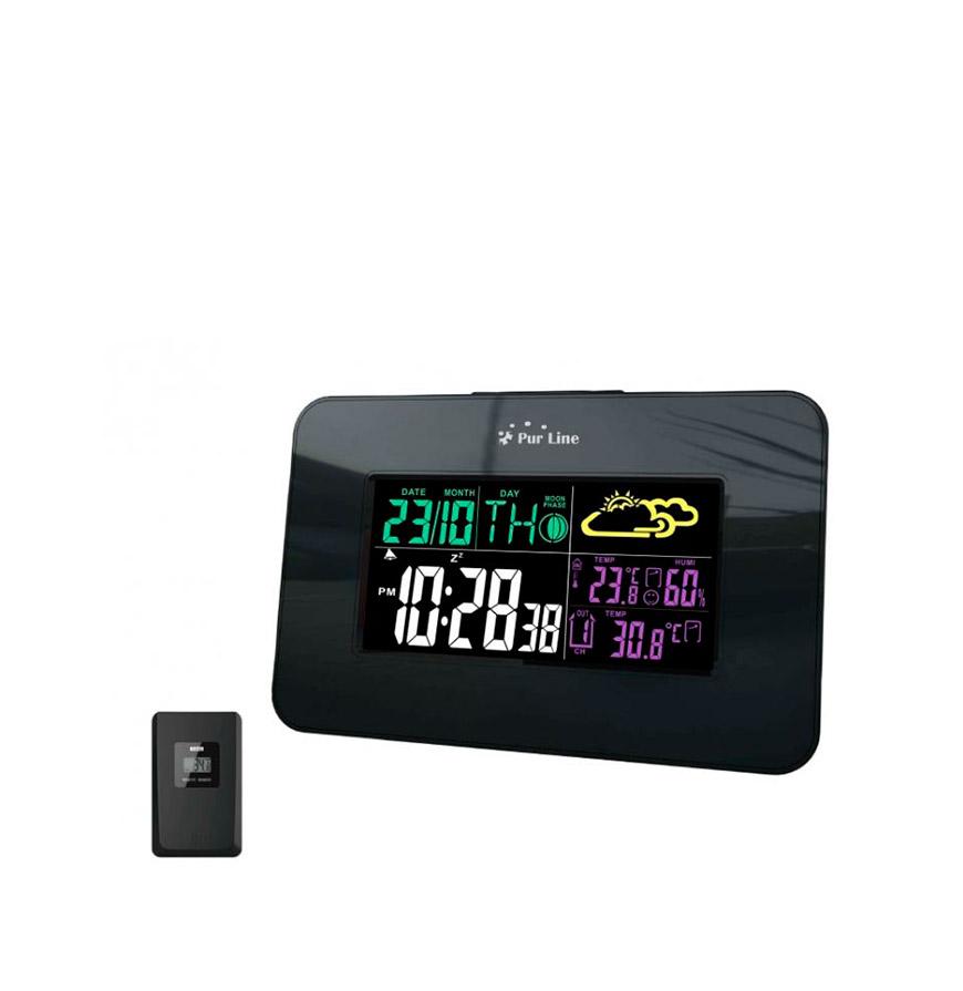 Estação Meteorológica WS04   Relógio, Alarme, Tempo e Data