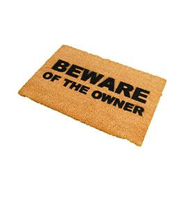 Tapete de Entrada Artsy  Doormats® | Beware