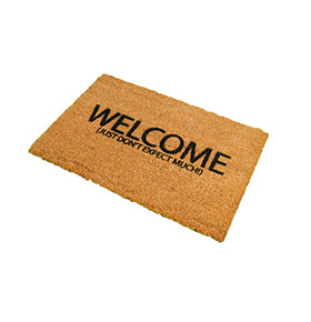 Tapete de Entrada Artsy  Doormats® | Welcome