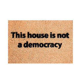 Tapete de Entrada Artsy  Doormats® | Democracy