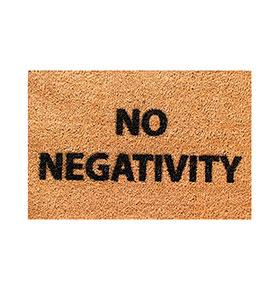 Tapete de Entrada Artsy  Doormats® | No Negativity