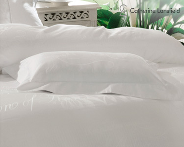 Almofada Decorativa c/ Enchimento Catherine Lansfield® Jacquard Script