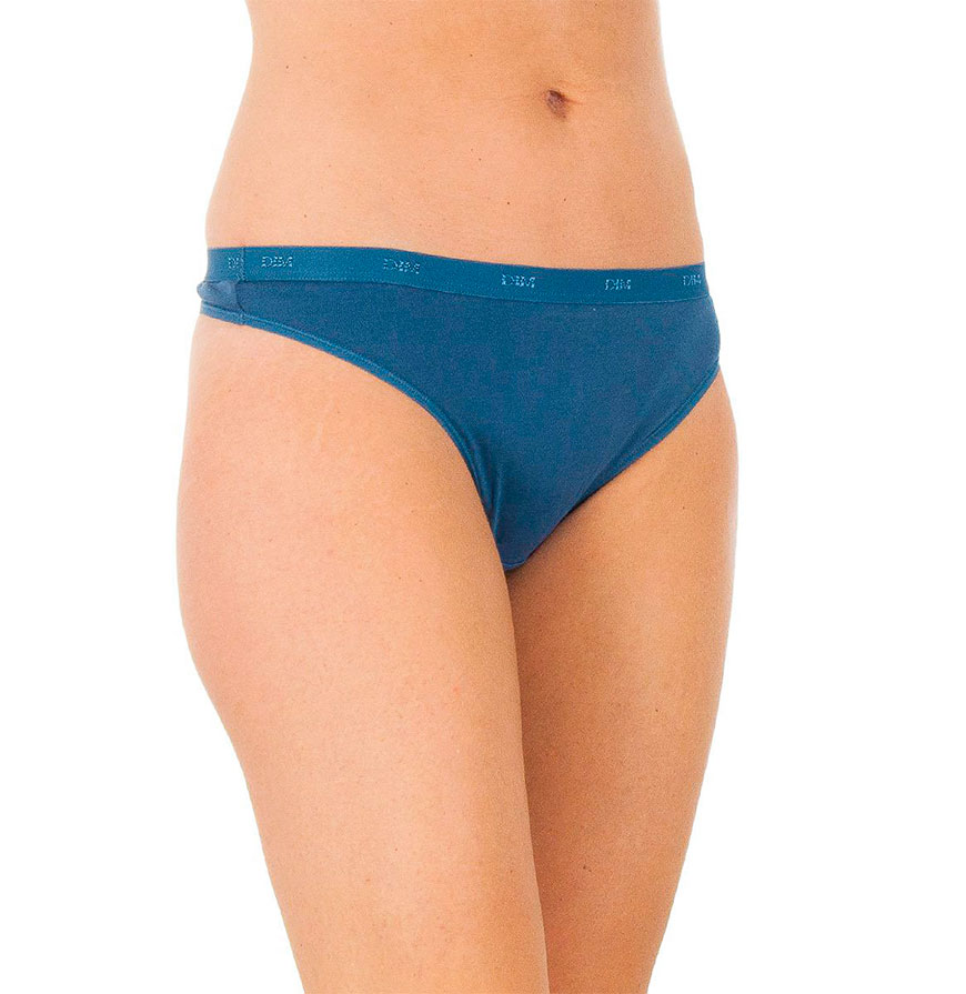 Pack 3 Tangas Dim® | Branco, Azul e Azul com Padrão