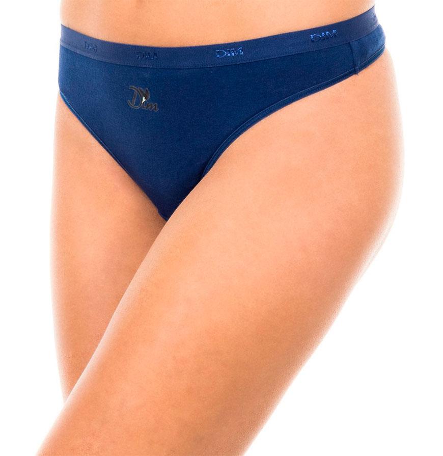Pack 3 Tangas Dim® | Preto, Azul e Azul com Padrão