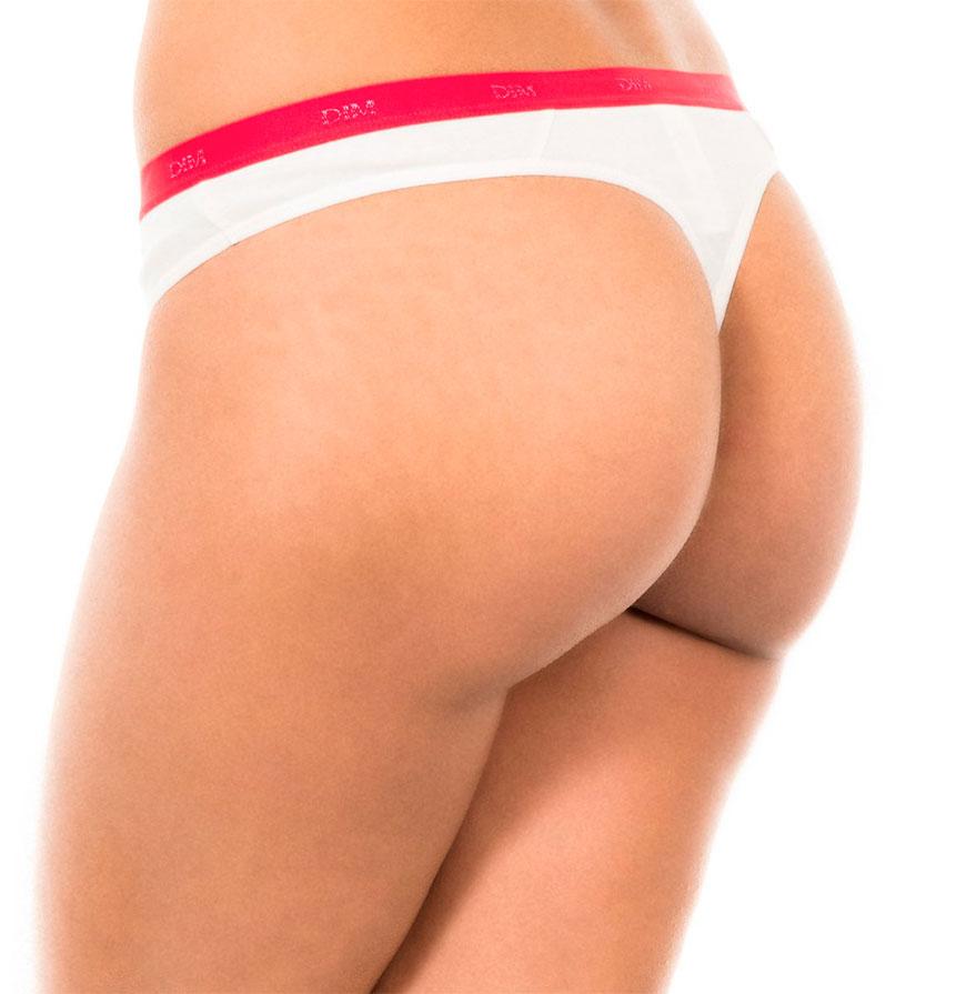 Pack 3 Tangas Dim® | Branco, Vermelho e Vermelho com Padrão