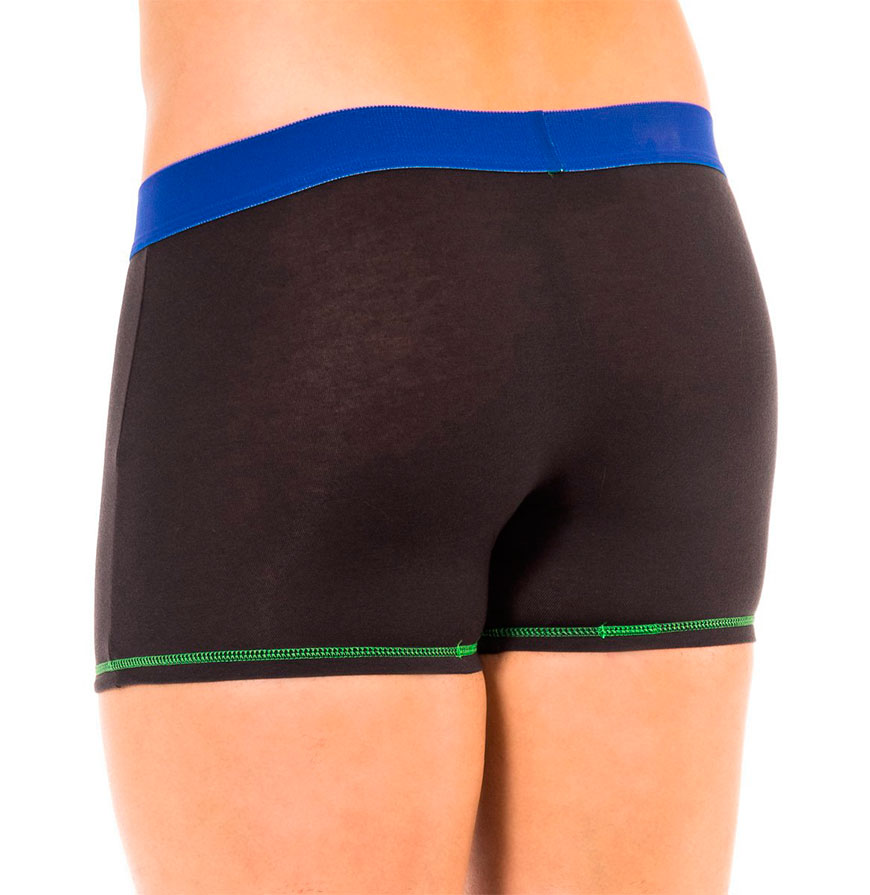 Pack 2 Boxers Dim® | Preto com Verde e Azul