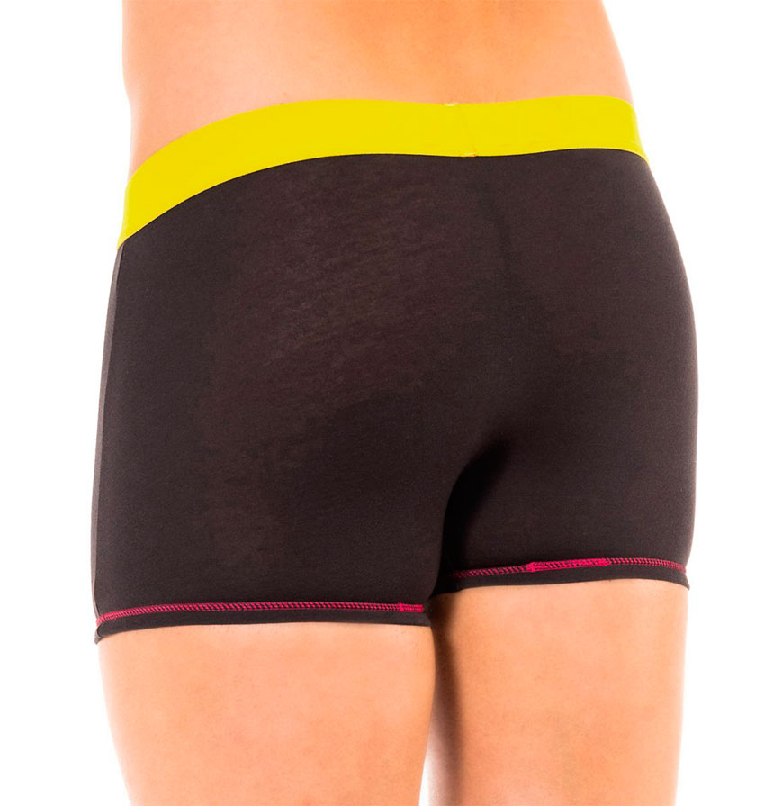 Pack 2 Boxers Dim® | Preto com Rosa e Amarelo