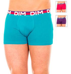 Pack 3 Boxers Dim® | Azul, Lilás e Vermelho