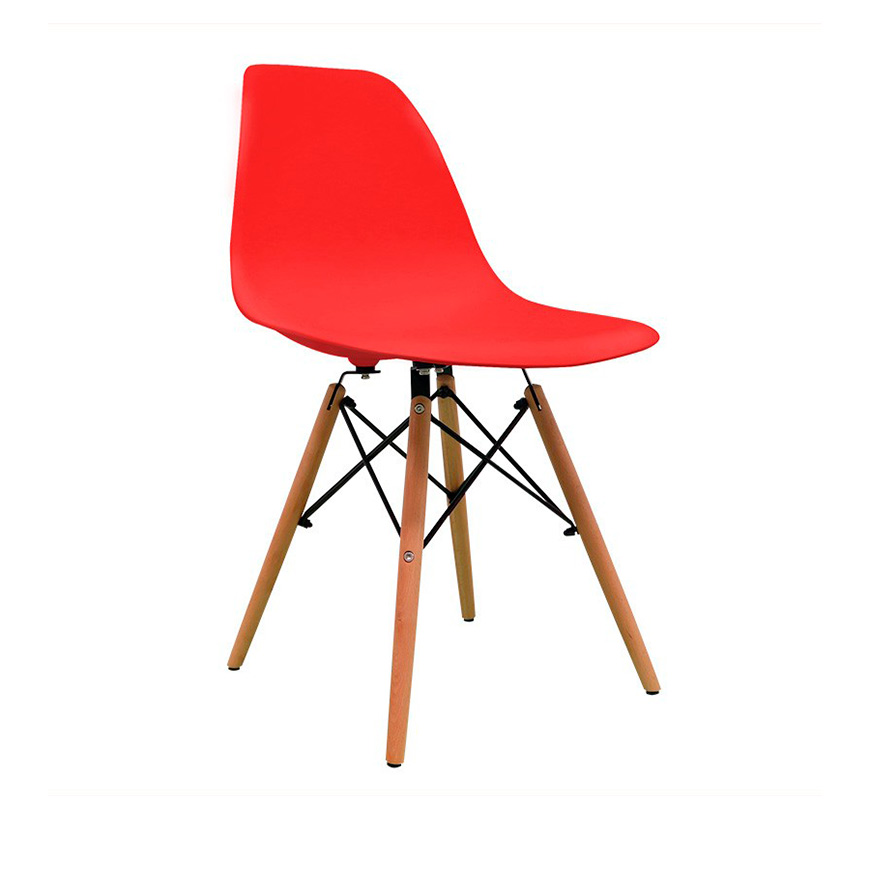 Cadeira Nórdica Tower   Vermelho