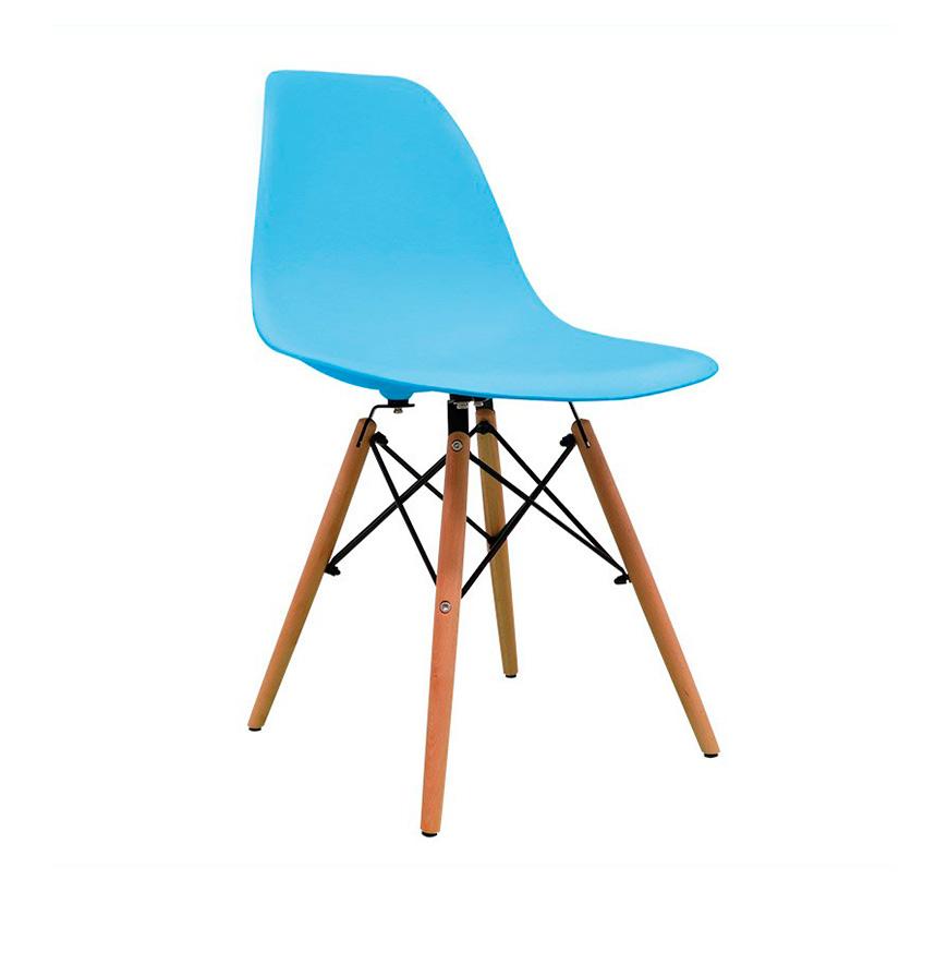 Cadeira Nórdica Tower   Azul Celeste