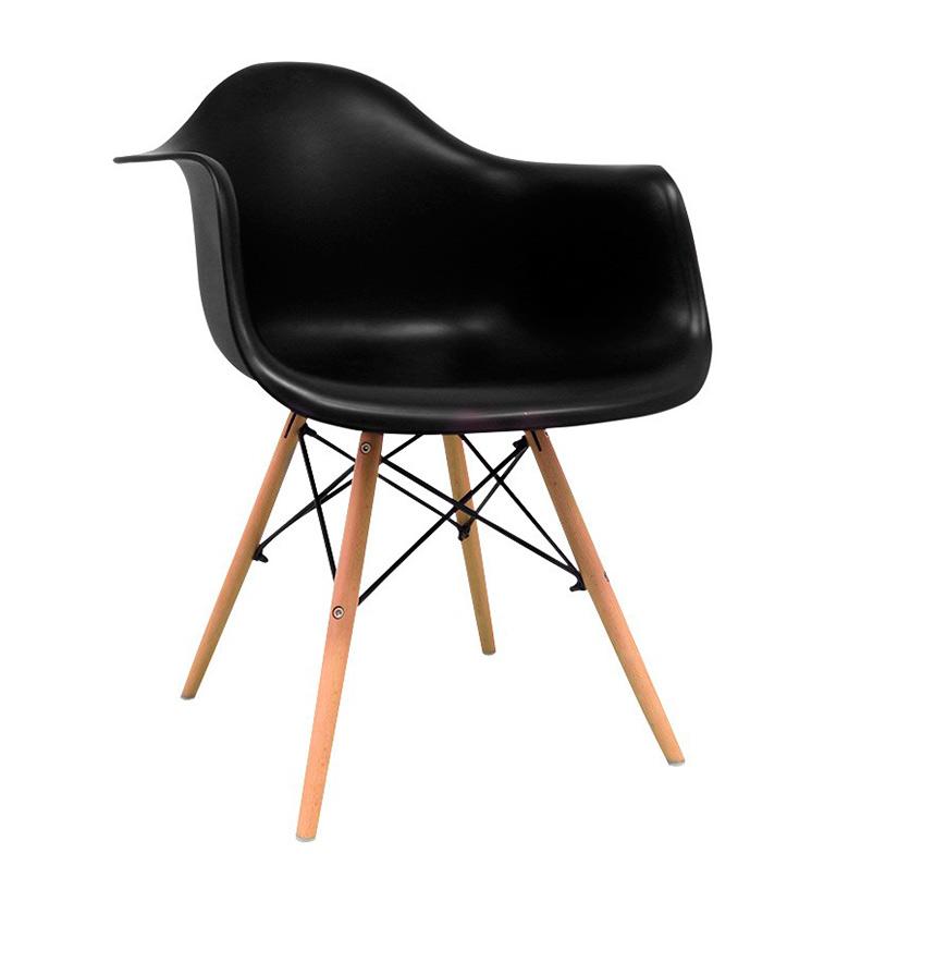 Cadeira Nórdica Dau   Preto