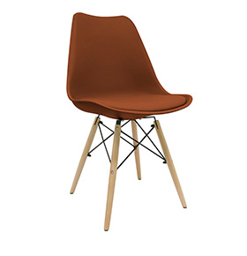 Cadeira Nórdica Tilsen | Castanho
