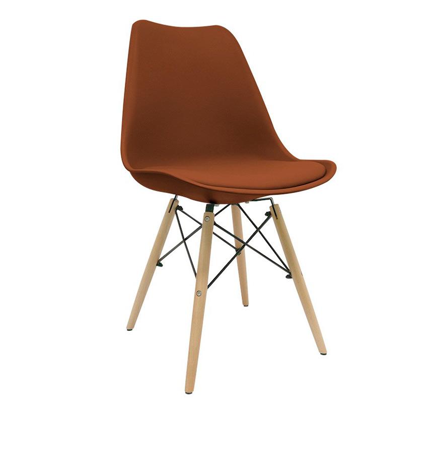 Cadeira Nórdica Tilsen   Castanho