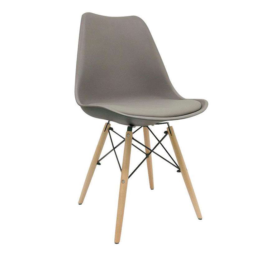 Cadeira Nórdica Tilsen   Cinza