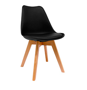 Cadeira Nórdica Synk| Preto