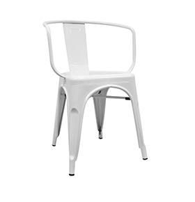 Cadeira Industrial Torix com Braços| Branco