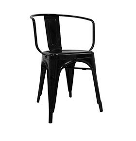Cadeira Industrial Torix com Braços| Preto
