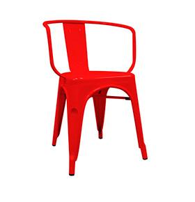 Cadeira Industrial Torix com Braços | Vermelho