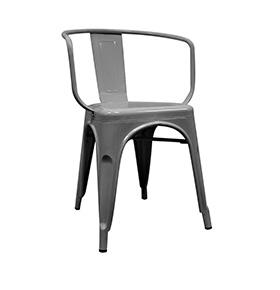Cadeira Industrial Torix com Braços | Cinza