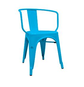 Cadeira Industrial Torix com Braços  | Azul