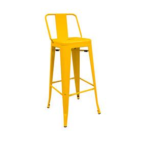Banco Industrial Torix com Encosto | Amarelo