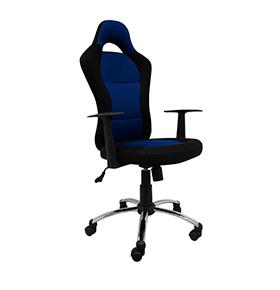 Cadeira de Escritório Leman | Azul e Preta