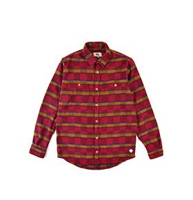 Camisa Lightning Bolt® | Vermelho e Bege com Padrão