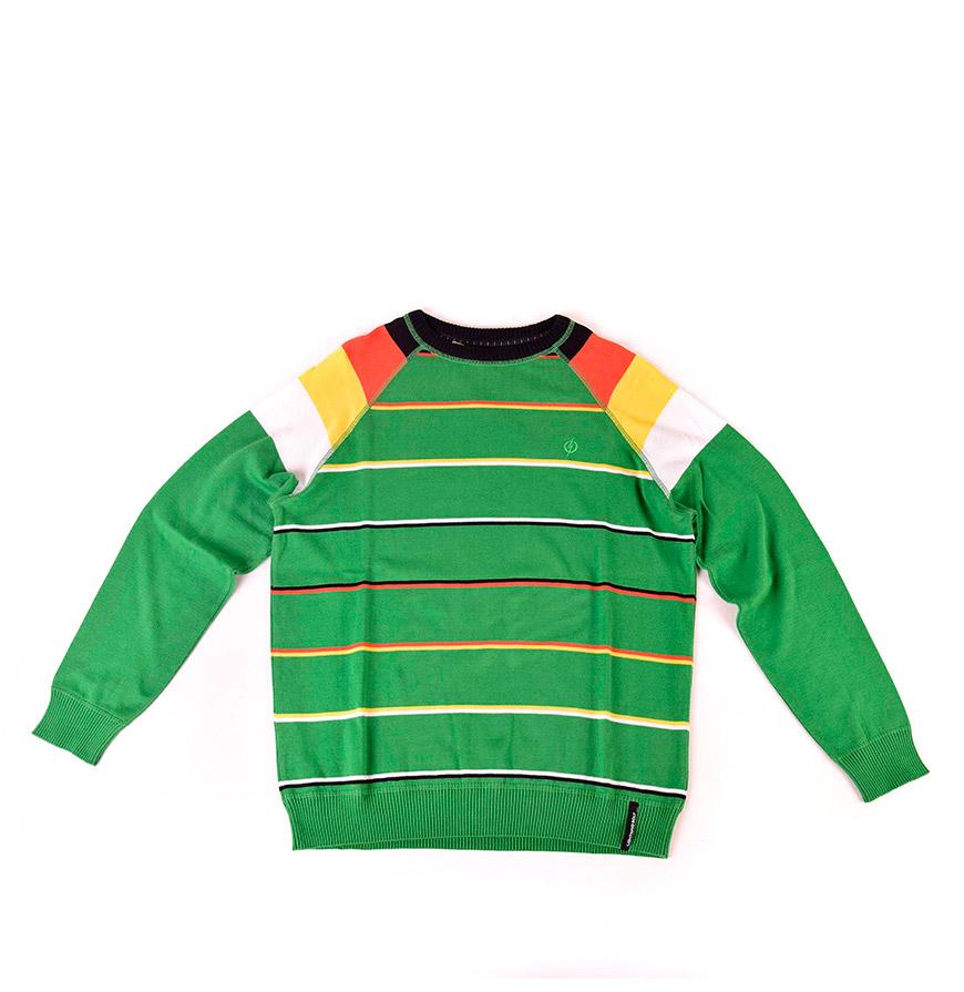 Camisola Lightning Bolt® | Verde com Riscas
