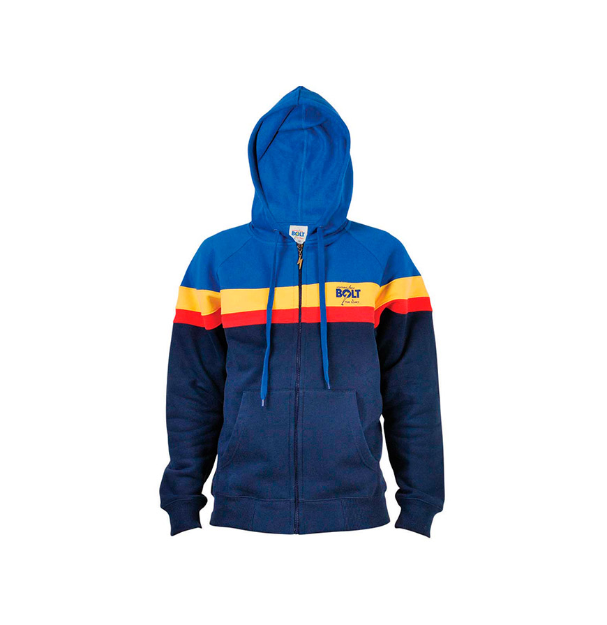 Casaco Lightning Bolt® com Capuz | Azul com Riscas
