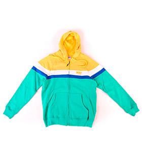 Casaco Lightning Bolt® com Capuz | Verde e Amarelo