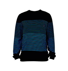 Camisola Lightning Bolt® | Preto com Riscas Azuis