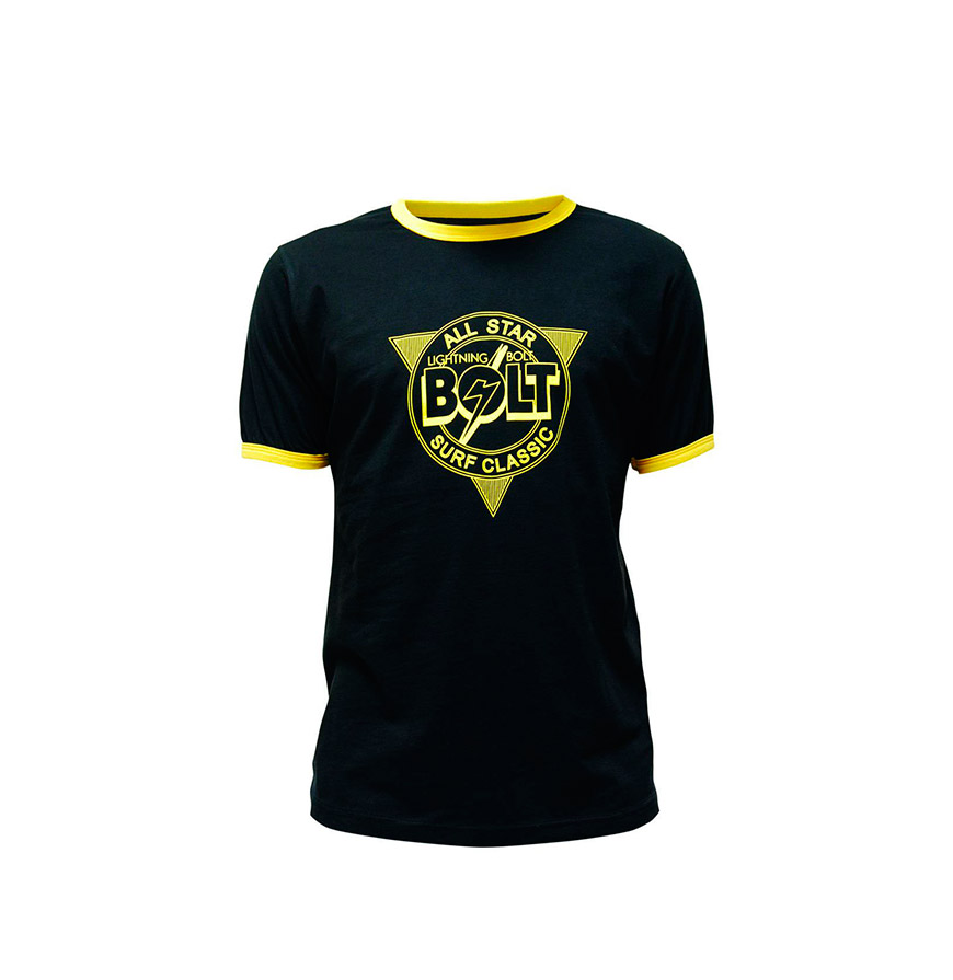 T-shirt Lightning Bolt® All Star | Preto e Amarelo