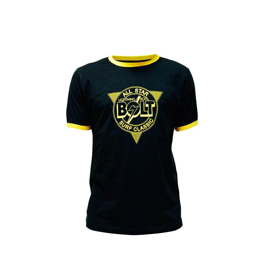 T-shirt Lightning Bolt® All Star | Preto e Amarelo
