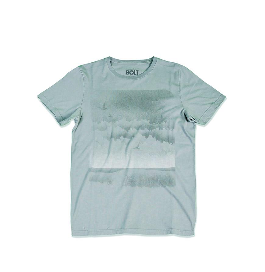 T-shirt Lightning Bolt® Sky Surf | Cinzento