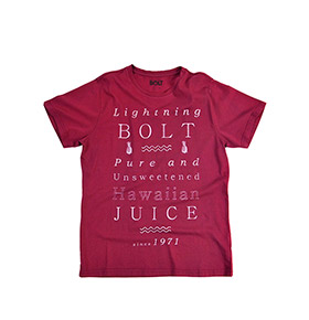 T-shirt Lightning Bolt® Juice Label | Lilás